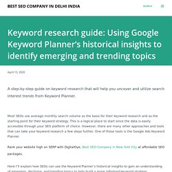 Keyword research guide: Using Google Keyword Planner's historical insights to identify emerging and trending topics