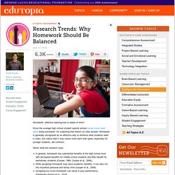 Homework policies and research