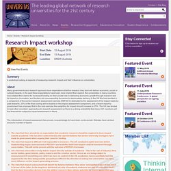 Research Impact workshop