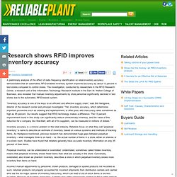 Research shows RFID improves inventory accuracy