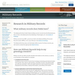 Research in Military Records