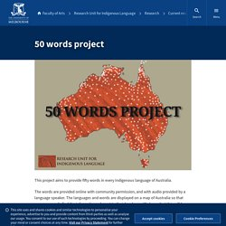 50 words project — Research Unit for Indigenous Language