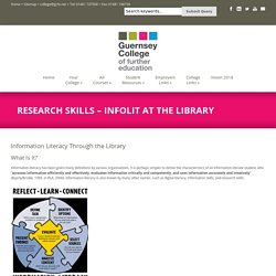 GCfe » Research Skills – InfoLit at the Library