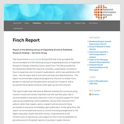 Finch Report - Research Information Network