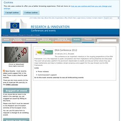 Conferences and Events for Research - Research & Innovation - European Commission