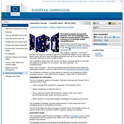 EU research & innovation scoreboard 2012