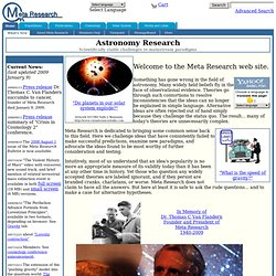Meta Research (innovative astronomy research)