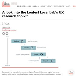 A look into the Lenfest Local Lab's UX research toolkit - Lenfest Institute for Journalism