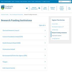 Research Funding Institutions