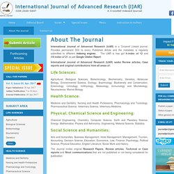 Publish Research Papers at International Journal of Advanced Research