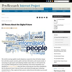 15 Theses About the Digital Future