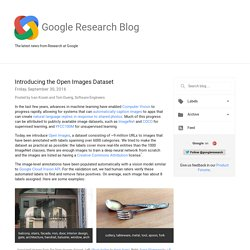 Research Blog: Introducing the Open Images Dataset