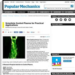 Plasma Weapons and Research - Inventions That Control Plasma