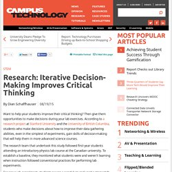 Research: Iterative Decision-Making Improves Critical Thinking