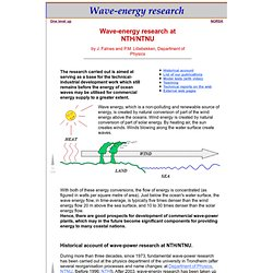 Wave Energy Research, Johannes Falnes, Physics, NTNU