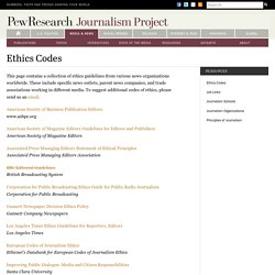 Ethics Codes