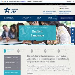 Research Your Options: U.S. English Language Programs