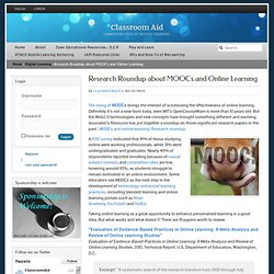 Research Roundup about MOOCs and Online Learning