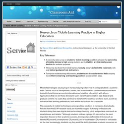 Research on Mobile Learning Practice in Higher Education