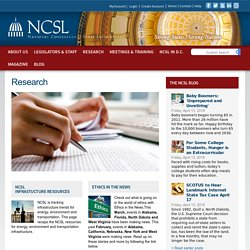 Policy Research on Legislative Issues