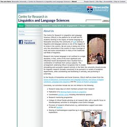 About - Centre for Research in Linguistics and Language Sciences