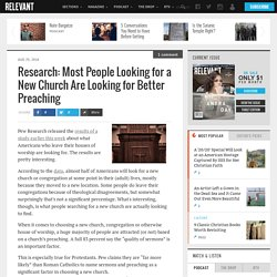 Research: Most People Looking for a New Church Are Looking for Better Preaching