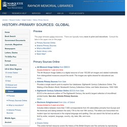 Primary Sources - Research Guides at Marquette University