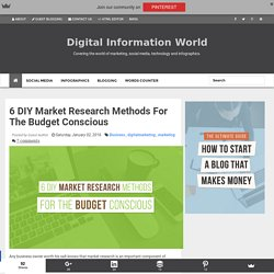 6 DIY Market Research Methods For The Budget Conscious