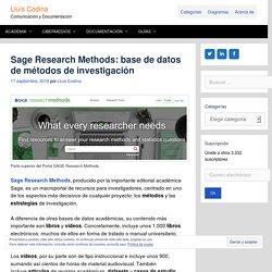 Sage Research Methods: base de datos de métodos de investigación