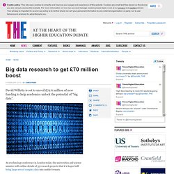 Big data research to get £70 million boost