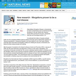 New research - Morgellons proven to be a real disease