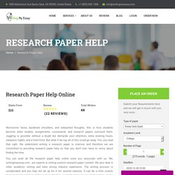Research Paper Help Online - WritingMyEssay.com