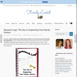 Research Logs: The Key to Organizing Your Family History – Family Locket