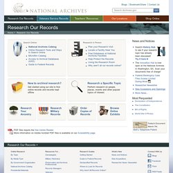 NARA - Research - Main Page