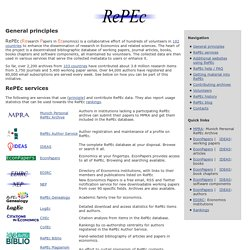 RePEc: Research Papers in Economics