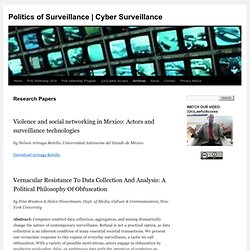 Research Papers | Digitally Mediated Surveillance