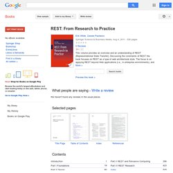 REST: From Research to Practice - Erik Wilde, Cesare Pautasso - Google Books