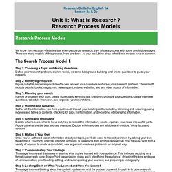 Research Process Models