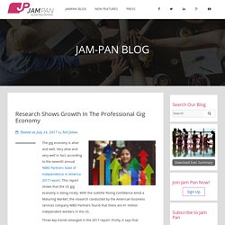 Huge Growth in Professional Gig Economy-Latest Report