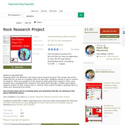 Rock Research Project by Raki's Rad Resources