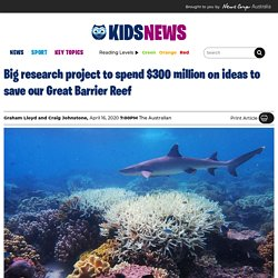 $300 million for research projects to help save Australia's Great Barrier Reef