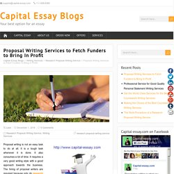 Proposal Writing Services to Fetch Funders to Bring In Profit