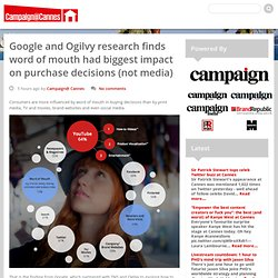 Google and Ogilvy research finds word of mouth had biggest impact on purchase decisions (not media)