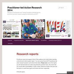 Practitioner-led Action Research 2014