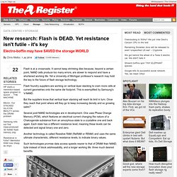 New research: Flash is DEAD. Yet resistance isn't futile - it's key
