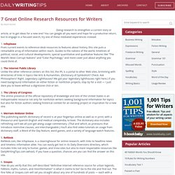 7 Great Online Research Resources for Writers