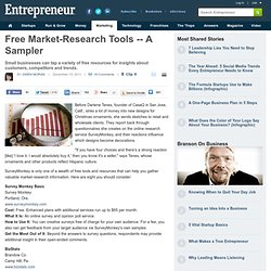 Free Market-Research Tools