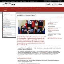 iPad Research in Schools