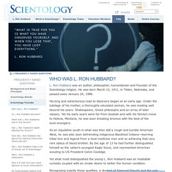 L. Ron Hubbard's Life, Work, Research, Scientology & Dianetics: Official Church of Scientology