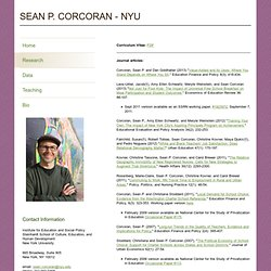 Sean Corcoran's Research